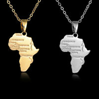Mode Afrique Carte Argent/Or Collier Pendentif Pays Continent Africain Chaîne *1