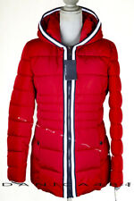 Tommy Hilfiger Quilted Hooded Jacket Puffer Coat XS Red