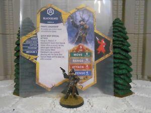 Heroscape Custom Blackbeard Double Sided Card & Figure w/ Sleeve Aquilla