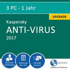 Kaspersky Anti-Virus 2017, 3 PC - 1 Jahr, ESD, Upgrade
