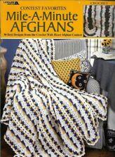 Contest Favorites Mile-A-Minute AFGHANS 20 Best Design Leisure Arts 3144 Crochet