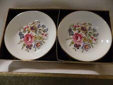 Royal Worcester, Set of 2, Butter Pats/Coasters, Original Box, Excellent