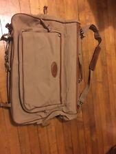 cf31ea57ad32 FORD Eddie Bauer Edition Khaki Canvas Folding Hanging Garment Bag Luggage