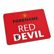 Manchester United F.C - Personalised Mouse Mat (Red Devil - Red)