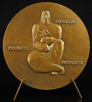 Medal Paul Albert Coudert Sculptor on Wooden Communist Mayor of Bagonlet
