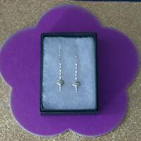 Beautiful 925 Silver Earrings Modern Stile 3.7 Grams 3.5 Cm.Long + Hooks In Box