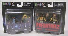 Minimates PREDATOR 2 & ALIEN Lot Diamond Select Action Mini Figures NEW Harrigan