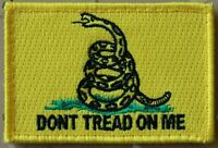 DONT TREAD ON ME Gadsden Tactical Combat Patch Embroidered Hook and Loop