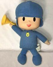 "Bandai Pocoyo Plush Stuffed Toy Doll Sound 10"" with Sound"