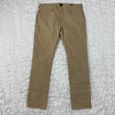 J Crew Factory Mens 5 Pocket Tech Pants 34 Khaki Tan- DAMAGED