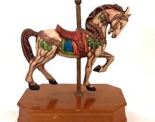 "Vintage Porcelain Carousel Horse Music Box Plays ""Carousel Waltz:"" UCGC Taiwan"