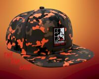 New Disney Mickey Mouse Orange Brown Camo Mens Snapback Cap Hat