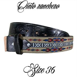 Belt Leather Hand Made Cowboy Cinturón Vaquero Hecho En Mexico Cinto Ranchero