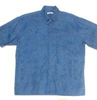 Campia Moda Blue Hawaiian Short Sleeve Button Up Shirt Mens Size Extra Large