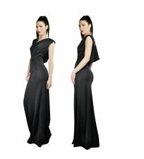 Women's Ball Gown Prom Celeb Cowl Neck Sleeveless Open Back Party Maxi Dress