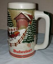 BUDWEISER 1984 Limited Edition Budweiser Holiday Stein Clydesdales In Snow 618