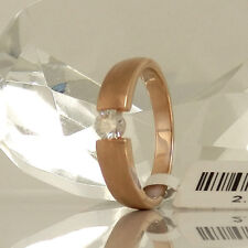 Ring in 750 Rotgold 18K mit 1 Diamant 0,30 ct TopWesselton si NEU Gr. 53