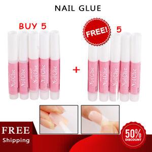 10PCS Nail Tip Glue Super Bond For Acrylic false Nails art Strong Adhesive lot