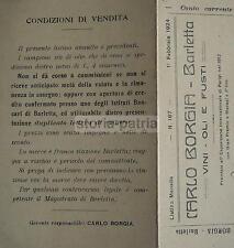 ENOLOGIA_VINO_OLIO_ANTICO LISTINO_PUGLIA_BARLETTA_BORGIA_PIEGHEVOLE D'EPOCA_1924
