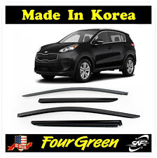 SMOKED DOOR VISOR WINDOW VENT DEFLECTOR WIND 4 PCS for KIA SPORTAGE 2017-2019