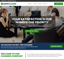 Carpet Cleaner Website - One-Page Wordpress - Free Installation To Your Hosting