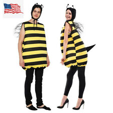 Adult Unisex Bumble Bee Costume Party Cosplay Fancy Dress Us Shipping