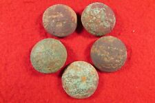 Five Civil War North Carolina Sate Seal Coat Buttons - Dug Chesterfield, VA
