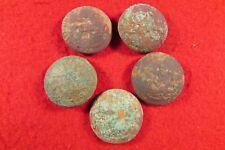Five Civil War North Carolina Sate Seal Coat Buttons - Dug Chesterfield, VA