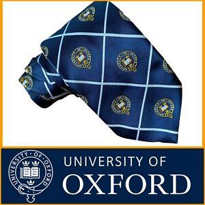 University Of Oxford Men's Tie Crest Blue Gold