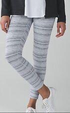 Lululemon High Times Pant Cyber Stripe Silver Fox Luxtreme sz 8