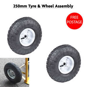 """2pc 10"""" Tyre Replacement Wheel for Wheelbarrow Sack Truck Hand Trolley Cart"""