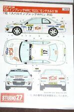 """1:24 Decals Studio27 ST27-DC188, Subaru Impreza WRC, """"Monte 1999"""", NEU & OVP"""