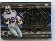 2015 Topps Dez Bryant Topp 60 Silver Medallion Card #T60R-DBR 14/50 in MINT!