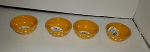 The Pioneer Woman Retro Dot Yellow & White Condiment Dip Bowls Set of 4