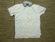 Ralph Lauren Polo Sport Men's Medium Polo Shirt Blue/White Striped Pima Cotton