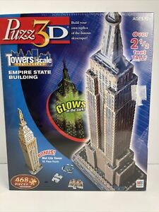 Puzz 3D Empire State Building Puzzle 468 Pieces Glow in the Dark 2.5 Ft Tall New