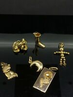Vintage French Pendants Charms adorable Variations hallmarked Gold Plated
