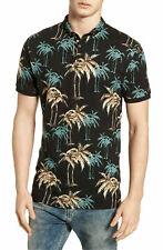 NWT Scotch & Soda Palm Tree Print Polo Shirt Short Sleeve Golf Collared M, $89