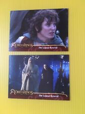 lord of the rings the two towers set of 2 promo trading cards