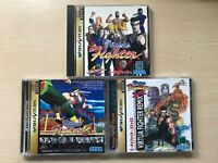 Sega Saturn Virtua Fighter 1, 2, Remix set Japanese Ver. Very Good Cond. Boxed
