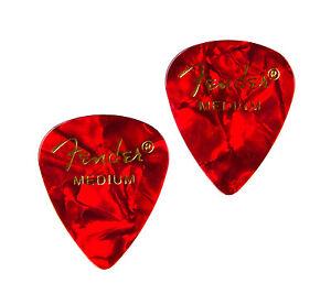 Red Guitar Pick Cufflinks - QHG3