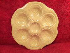 Oyster Plate Mid-Century Yellow Majolica Oyster Plate c.1950's, op325