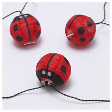 Ikea SOLVINDEN LED String Light w/12 Lights, Battery Operated Outdoor Ladybug
