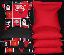 CHICAGO BULLS CORNHOLE BEAN BAGS BaggoToss Game NBA 8 Top Quality Handmade Bags!