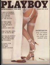 Playboy Magazine AUGUST 1978 VERY GOOD