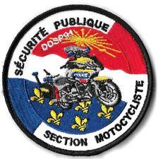 Ecusson POLICE SECURITE PUBLIQUE SECTION MOTOCYCLISTE D.D.S.P 91