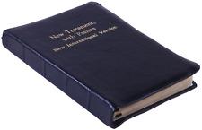 NIV 1984 Coat Pocket New Testament New International Version Black Bison Leather