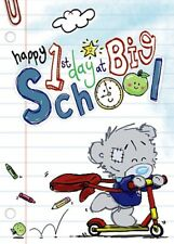 1st Day at BIG SCHOOL - Small - DInky Tatty Teddy Me to You - Greeting Card