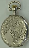 Unusual antique Japy Freres Digital Hours pocket watch for Chinese market c1890s