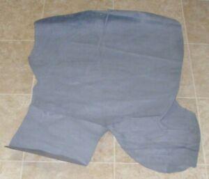 (YYE9002-7) Hide of Blue Grey Pig Suede Leather Hide Skin
